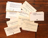 Dewey Decimal.. 25 Vintage Card Catalog Cards, Library Card, Index Cards
