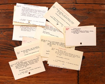 Dewey Decimal.. 500 Vintage Card Catalog Cards, Index Cards, Library Cards