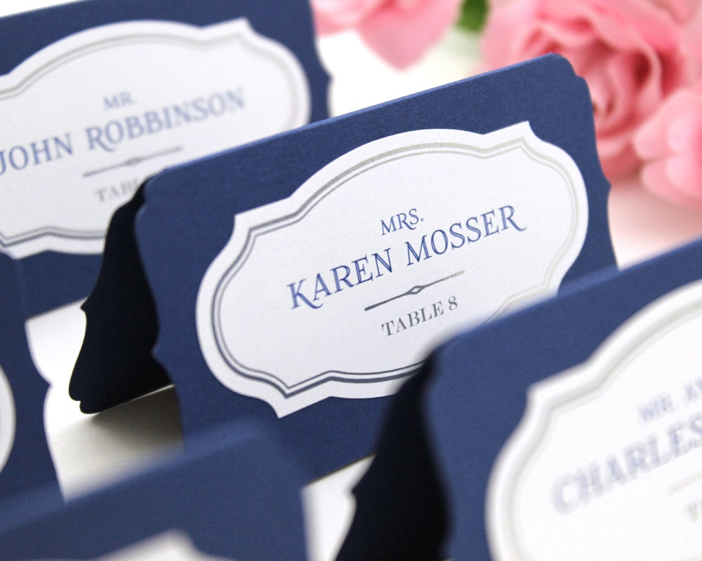 Custom place cards wedding escort cards printed or blank for Personalized wedding place cards