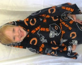 Child's Poncho or Womens Jacket Made from Licensed Chicago Bears Fleece Fabric Hoodie Warm Winter Wear