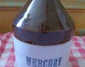 Vintage #10 Mercury Flask Stoneware Jug.