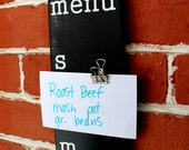 """Menu Board - 3.75"""" x 36.5"""" - Made to Order Meal Planner"""