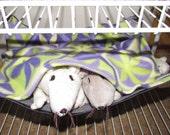 "Small (10""x12"") Double Layered Pet Hammock, Pet Rats, Degus, Sugar Gliders, Guinea Pig, Lavender Modern Art Fleece"