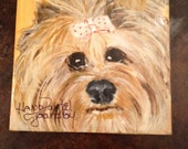 Yorkie lovers!  This hand painted coaster is a must for your home.