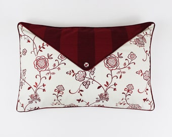 Robert Allen Stacy Lyn in Poppy Custom Envelope Pillow with Stonebarrow in Berry