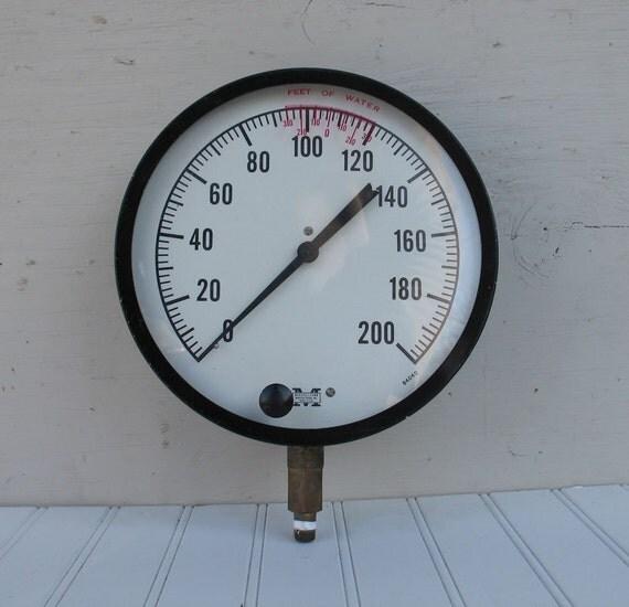 Industrial factory huge pressure gauge steampunk by ifindubuy - Steampunk pressure gauge ...