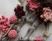 Flower Girl Headband Crochet Pattern - crocheted headband,flower headband, a photo tutorial, crocheted flowers