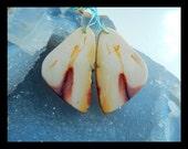 Nugget Mookite Jasper Earring Bead,42x24x4mm,12.99g