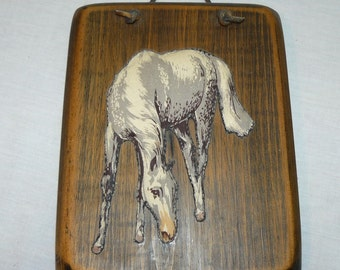 Vintage Original Western Art – Horse Wall Hanging – By Eleanor Dickens - Pinto / Appaloosa