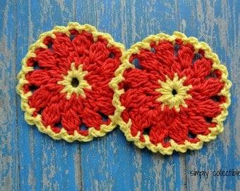 Firewheel Scrubbie Crochet pattern pdf