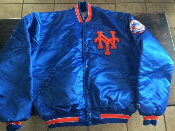 jacket New York mets baseball mlb vintage chalk line L