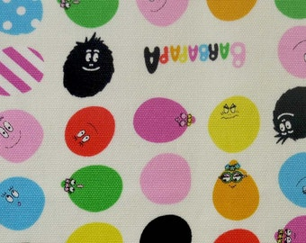 Barbapapa fabric One yard Cream white color
