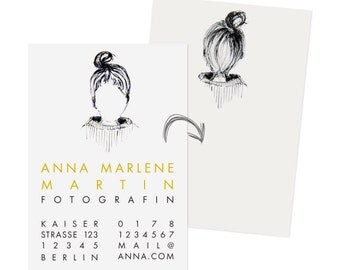 calling cards with your portrait