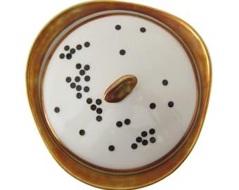porcelain stickers black dots