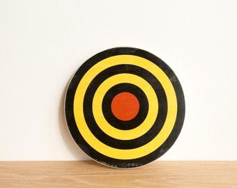 Target Circle Art Block - Black/Yellow/Red - archery target, bull's eye, colorway #19