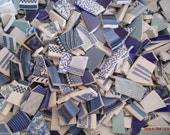 HUGE Mix Of Blue MOSAIC TILES~200 ~Perfect for your stock!