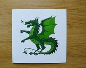 Dragon greetings card blank animal card