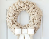 Front Door Decoration, Personalized Wreath, Personalized Door Wreath, Burlap Wreaths For The Door, Winter Burlap Wreath, Interchangeable Bow