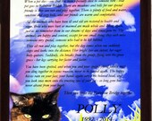 Custom Pet Memorial Rainbow Bridge Remember Plaque Cat Dog Animal Full Color Plaque