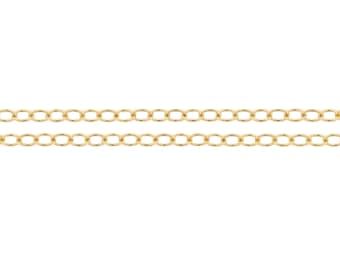 14kt Gold Filled 2.1x1.6mm Cable Chain - 5ft (2304-5) High Quality Strong Shiny cable Jewelry Chain