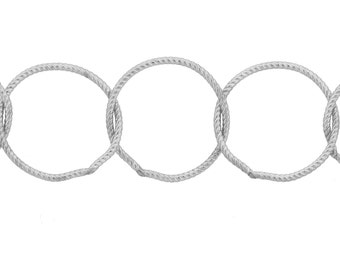 Sterling Silver 13mm Twisted Cable chain - 1ft Made in USA 20% discounted CutChainSale (4781-1)/1