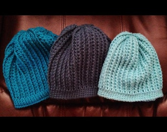 Slouchy Ribbed Knit Beanie