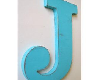 Letter J, 24 Inch Letter,  Large Wooden Letter