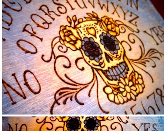 "Mini Day of the Dead Talking Board (ouija) 5""x7"" with Planchette"