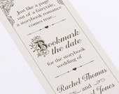 Fairytale Bookmark Save The date - DIY - Printable