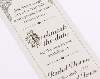 Fairytale Bookmark Save The date - DIY - Printable