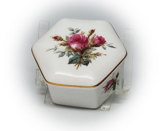 Lovely Hand Painted Hammersley Bone China Trinket Box