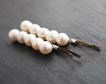 Simple Bridal Bobby Pins, Wedding, Hair Accessory, Pearls, Pearl Hair Pins, Fashion LoveandCherish