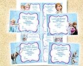 Frozen Valentine Cards, Valentine Treat bags, Frozen printable, 8 different cards, Instant download, Frozen printable valentine's day cards