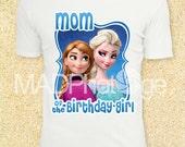 Frozen MOM of the Birthday Girl T Shirt, Frozen Printable, Instant Download, Frozen birthday, Frozen Movie, Frozen birthday invitation