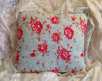 SUMMER PORCH Pillow cover Cath Kidston look Red roses