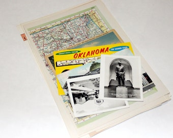 Oklahoma - United States Vintage Travel Collage Kit