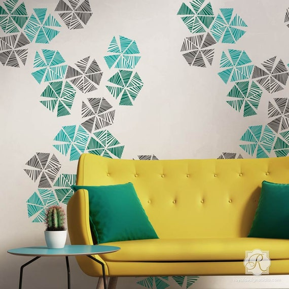 Pinwheel Wall Art  Stencil for DIY wall art
