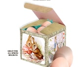 printable Peter Rabbit Story gift  printable box great for easter egg hunts ect.  DIY instant download
