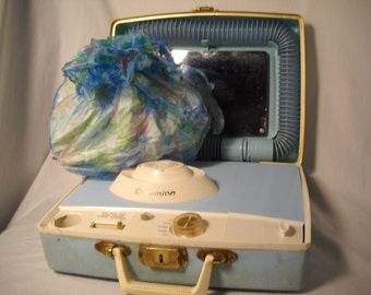 Vintage Electric Hair And Nail Dryer Blue Case By Dominion