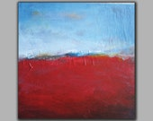 Red Sea-Abstract acrylic original landscape painting on canvas