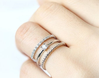RC001 Multi Stacking Ring / adjustable ring, choose your color, gold and silver