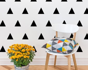 Triangle Vinyl Wall Decals (Set of 24)
