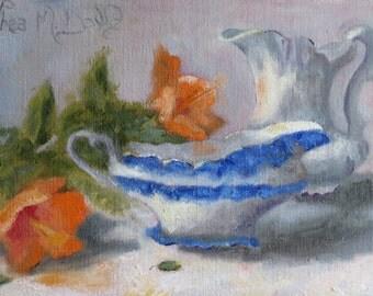 Dinner at Grandma - Original Oil Painting