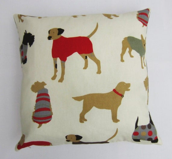 Dog Pillow Cover Dog Print Cushion Cover Decorative Pillow