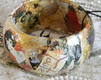 All You Have to Do Is Dream Decoupage Bangle Bracelet