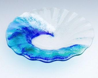 Glass Fusion Wave Bowl - Medium