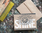 SHINE A6 Screenprinted Blank Greeting Card