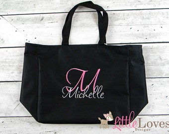 18 Personalized Bridesmaids Gift Tote Bags- Monogrammed Tote-  Bridal Party Gift- Wedding Party Gift