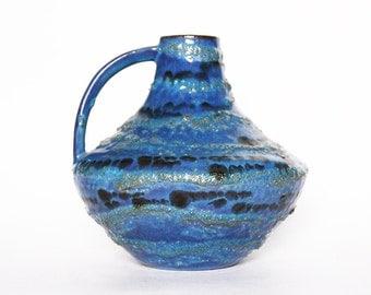 Vintage German Blue Shades Vase Pitcher  - Carstens 60s