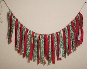 Christmas Decoration Christmas Photo Prop, Christmas Banner, Merry Christmas, Christmas Garland Christmas Bunting Christmas Garland Rag Tie
